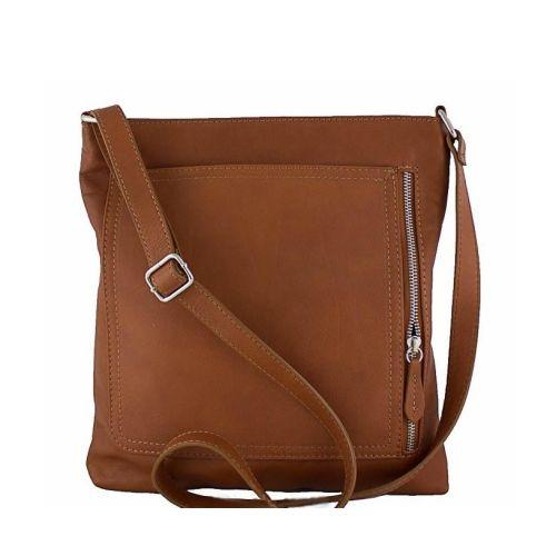 Кожаная сумка унисекс BC604 рыжая