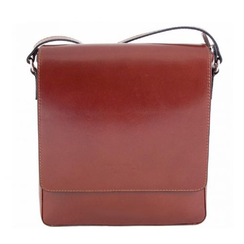 Мужская кожаная сумка BC610 коричневая