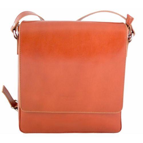 Мужская кожаная сумка BC610 рыжая