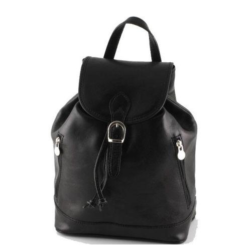 Кожаный рюкзак BC701 черный