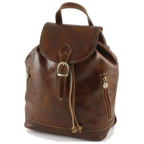 Кожаный рюкзак BC701 коричневый