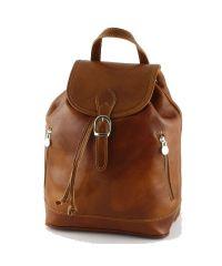 Кожаный рюкзак BC701 рыжий