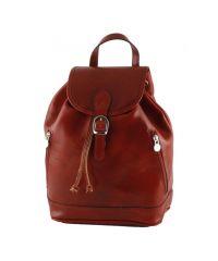 Кожаный рюкзак BC701 красный