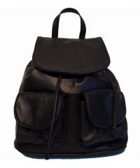 Кожаный рюкзак BC707 черный