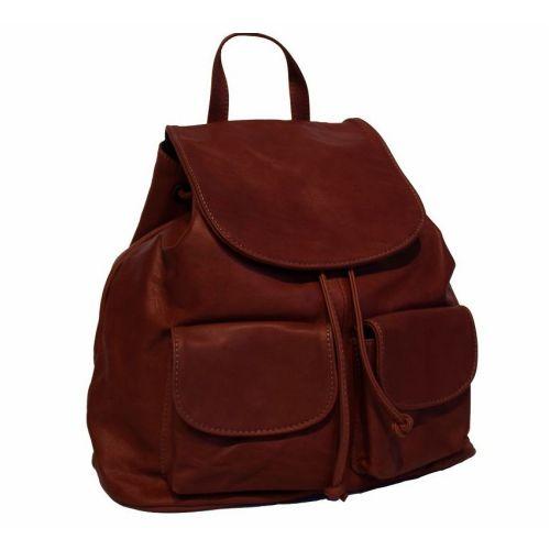 Кожаный рюкзак BC707 коричневый