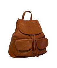 Кожаный рюкзак BC707 рыжий