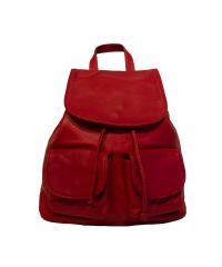 Кожаный рюкзак BC707 красный