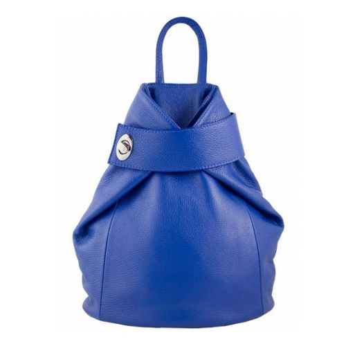 Кожаный рюкзак BC709 синий