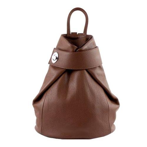 Кожаный рюкзак BC709 коричневый