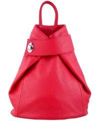 Кожаный рюкзак BC709 красный
