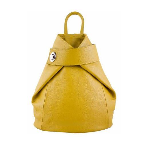 Кожаный рюкзак BC709 желтый