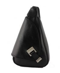 Кожаный рюкзак BC710 черный
