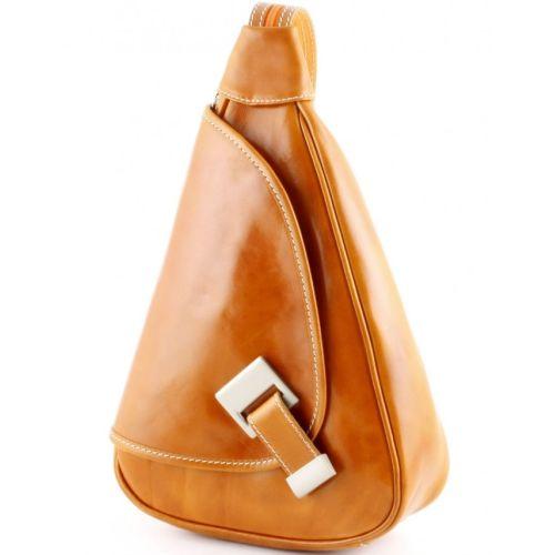 Кожаный рюкзак BC710 рыжий