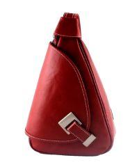 Кожаный рюкзак BC710 красный