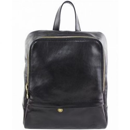 Кожаный рюкзак BC711 черный