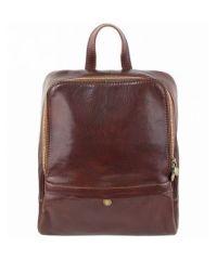 Кожаный рюкзак BC711 коричневый