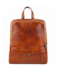 Кожаный рюкзак BC711 рыжий