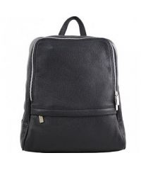 Кожаный рюкзак BC712 черный