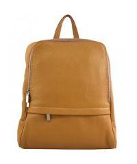 Кожаный рюкзак BC712 рыжий