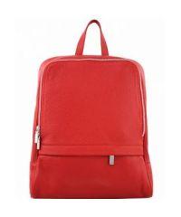 Кожаный рюкзак BC712 красный