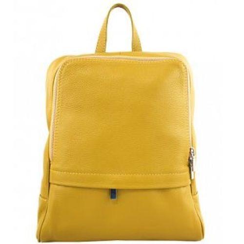 Кожаный рюкзак BC712 желтый