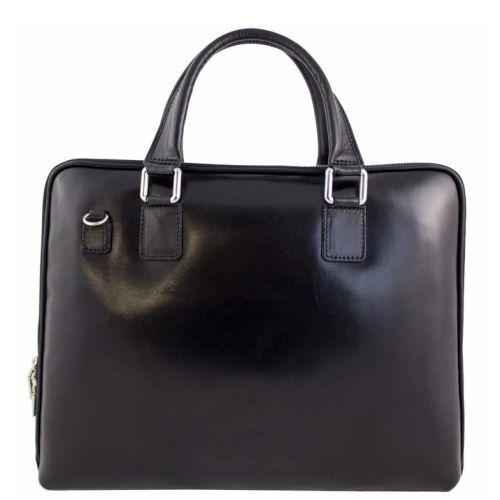 Кожаный портфель BC801 черный