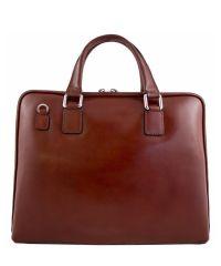 Кожаный портфель BC801 коричневый