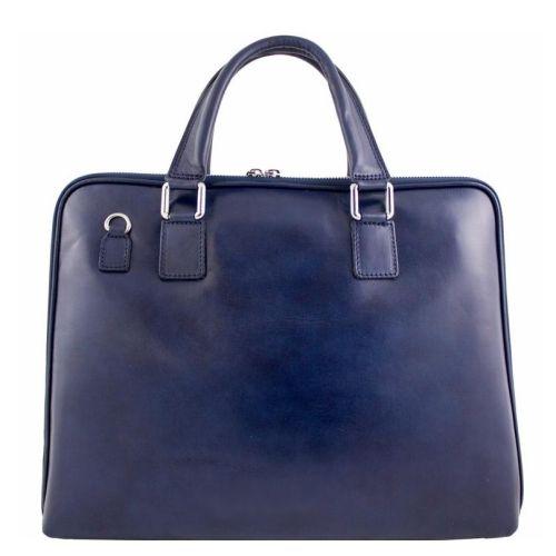Кожаный портфель BC801 синий