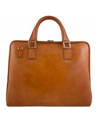 Кожаный портфель BC801 рыжий
