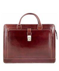 Кожаный портфель BC802 коричневый