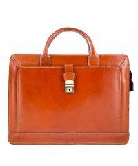 Кожаный портфель BC802 рыжий