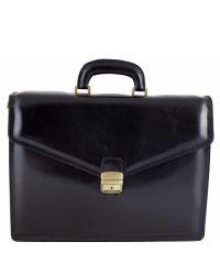 Кожаный портфель BC803 черный