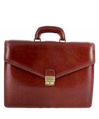 Кожаный портфель BC803 коричневый