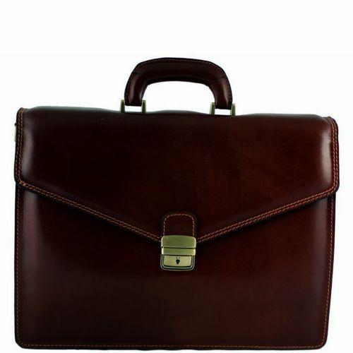Кожаный портфель BC803 шоколадный
