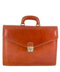 Кожаный портфель BC803 рыжий