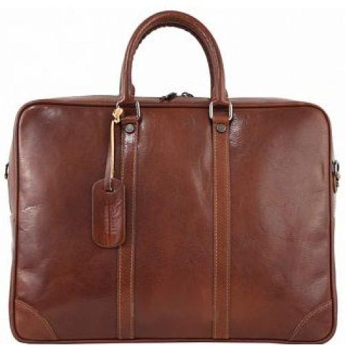 Кожаный портфель BC805 коричневый