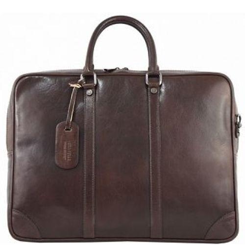 Кожаный портфель BC805 тёмно-коричневый