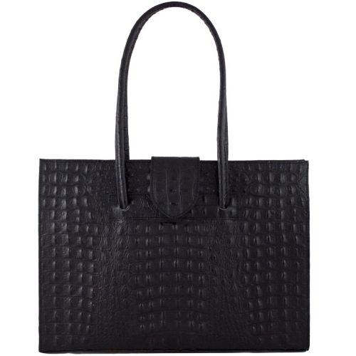 Женская кожаная сумка BC809 черная