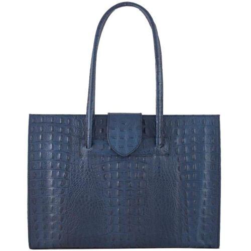 Женская кожаная сумка BC809 синяя