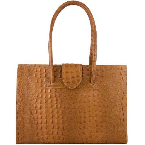Женская кожаная сумка BC809 рыжая