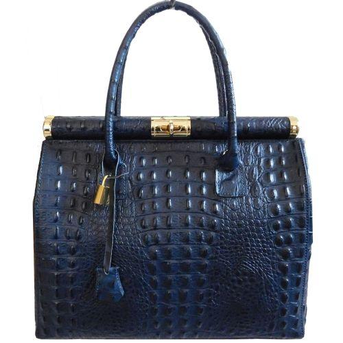 Женская кожаная сумка BC901 синяя