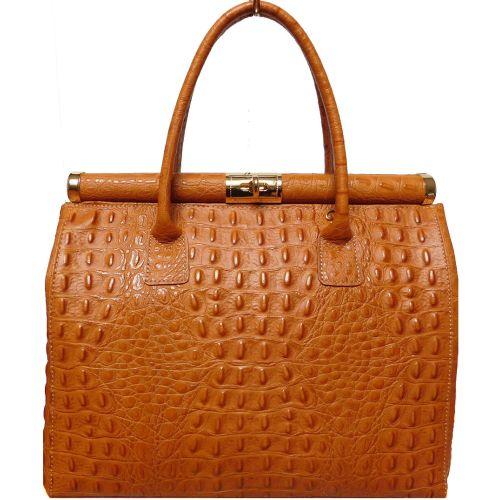 Женская кожаная сумка BC901 рыжая