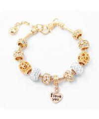 Браслет Pandora Heart Shine Love золотой