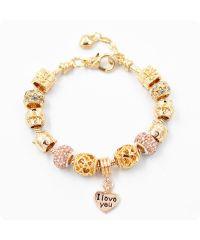 Браслет Pandora Ladybug золотой