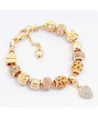 Браслет Pandora Crystal Ladybug золотой