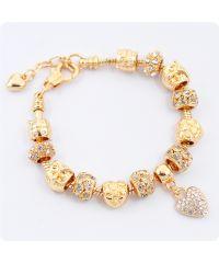 Браслет Pandora Owl Crystal золотой