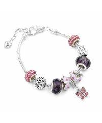 Браслет Pandora Butterfly фиолетовый