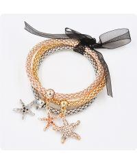 Тройной браслет Морские звезды