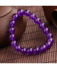 Браслет из натурального камня Темно-фиолетовый Кварц