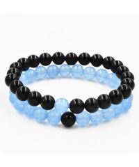 Парные браслеты Агат и Голубой кварц